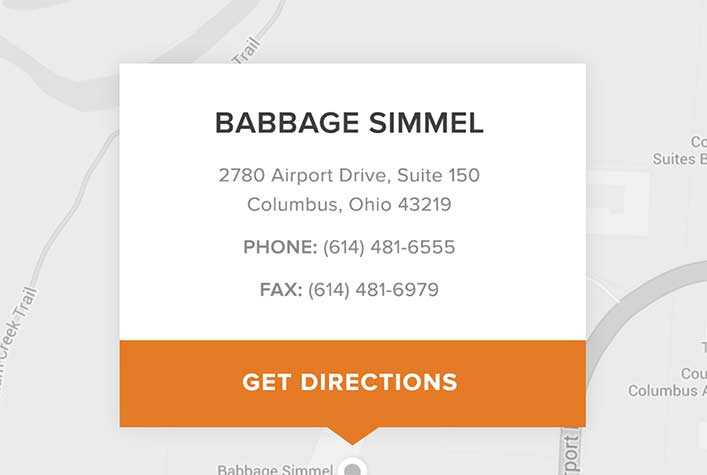 Babbage Simmel Website - Location Map